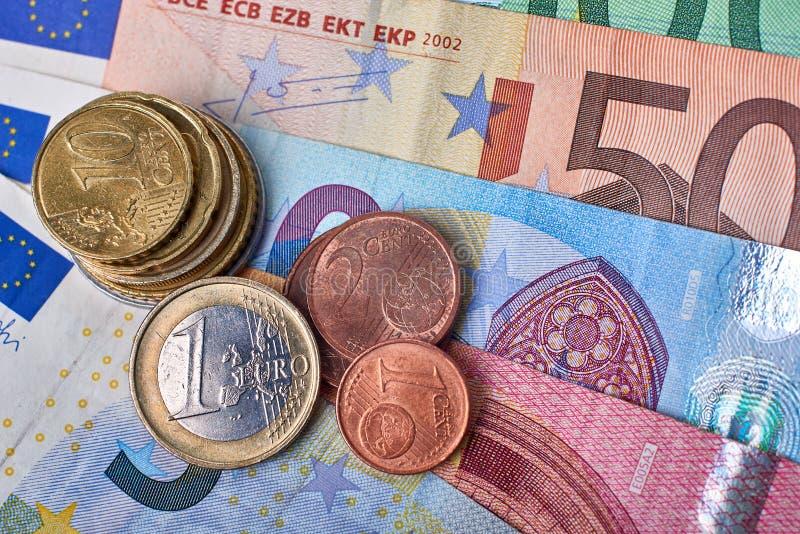 Euro primo piano di valuta fotografia stock libera da diritti