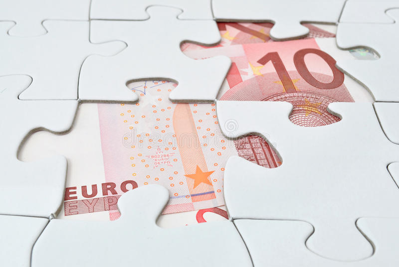 Euro puzzle photos stock