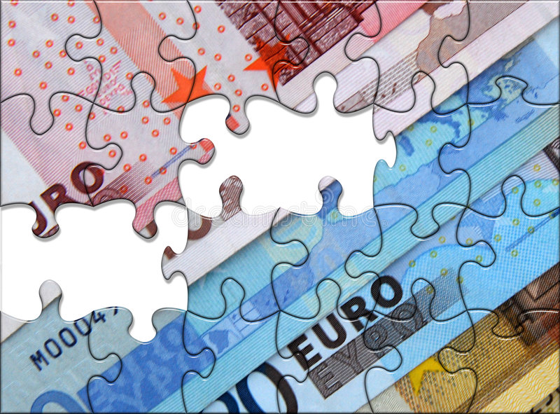 euro puzzle illustration stock