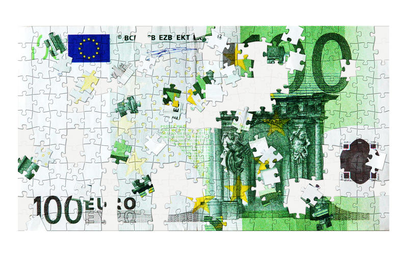 Download 100 Euro puzzle stock image. Image of dangerous, banking - 37240957