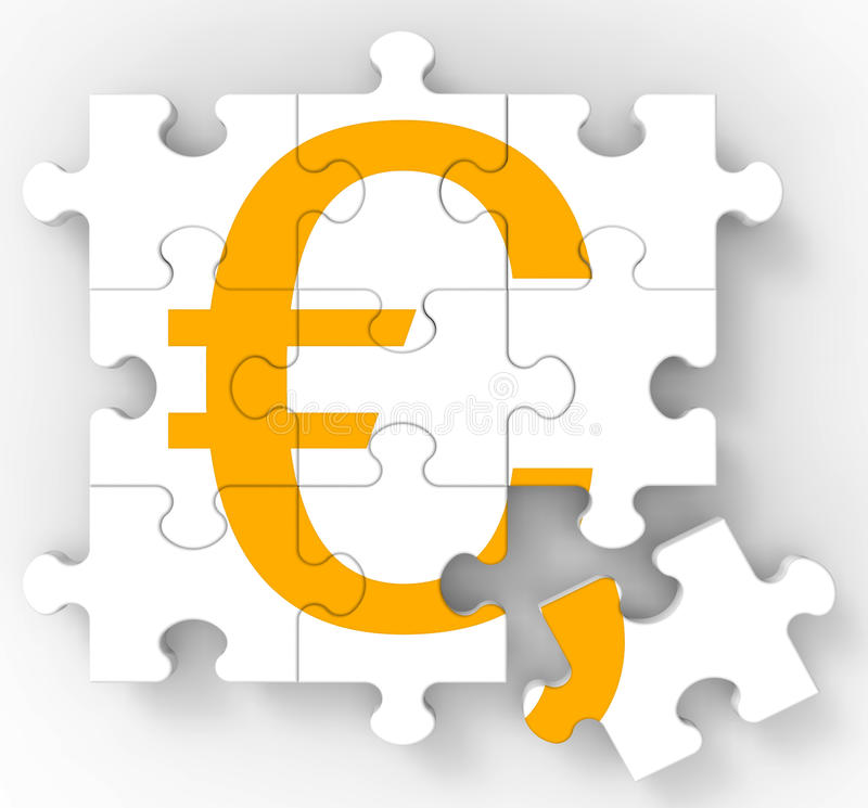 Download Euro Puzzle Shows European Currency Stock Illustration - Image: 28056979