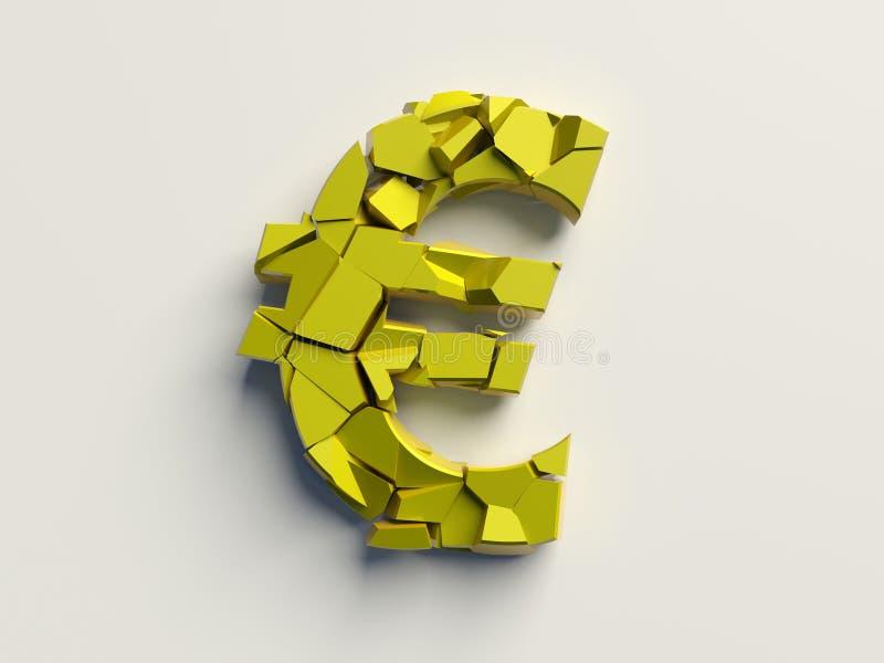 Euro quebrado ilustração royalty free