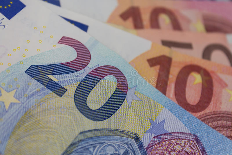 Euro rachunki, europejski pieniądze - euro zdjęcia stock