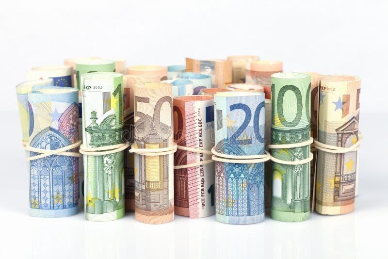 Euro rachunki najwięcej używać europejczykami są tamto 5 10 20 50 fotografia stock