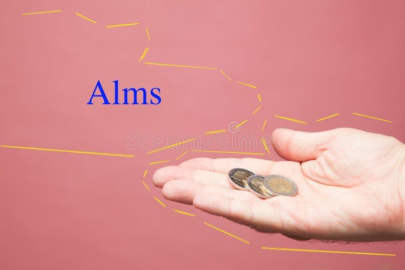 Euro rachunki w prawej ręce osoba zdjęcie stock