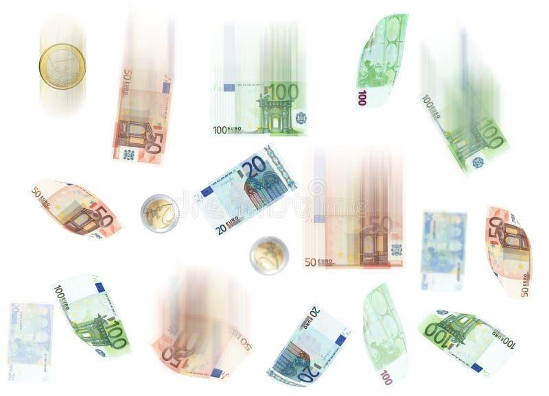 Euro rain royalty free stock photography
