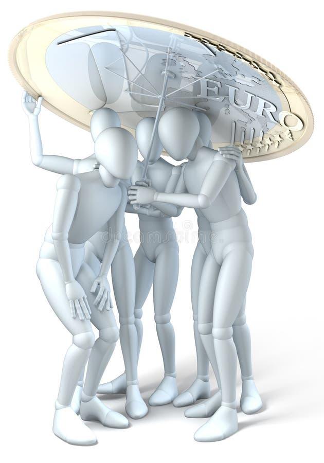 Euro riparo royalty illustrazione gratis