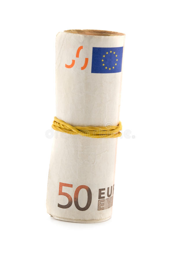 Download Euro roll stock image. Image of objects, banking, greenbacks - 18771357