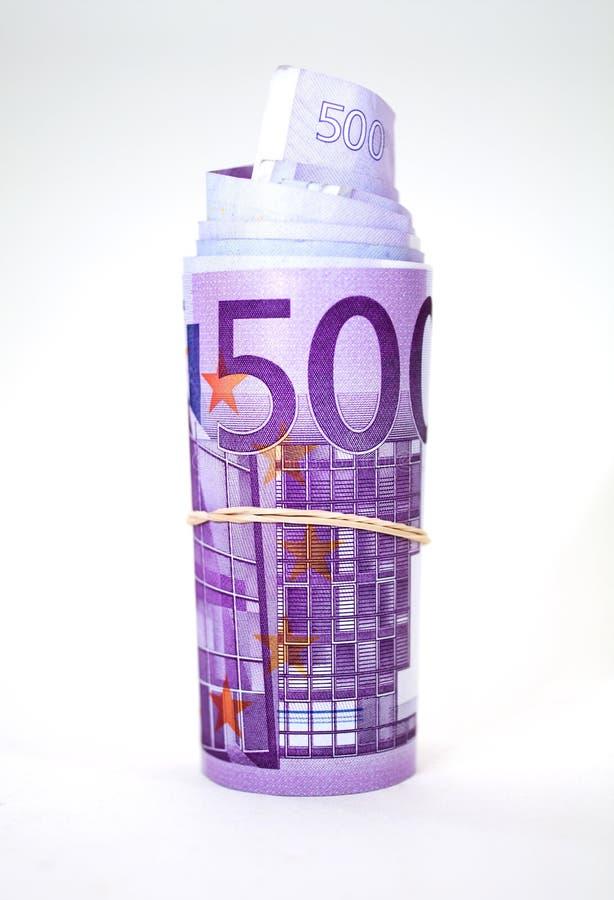 Euro roll stock photo