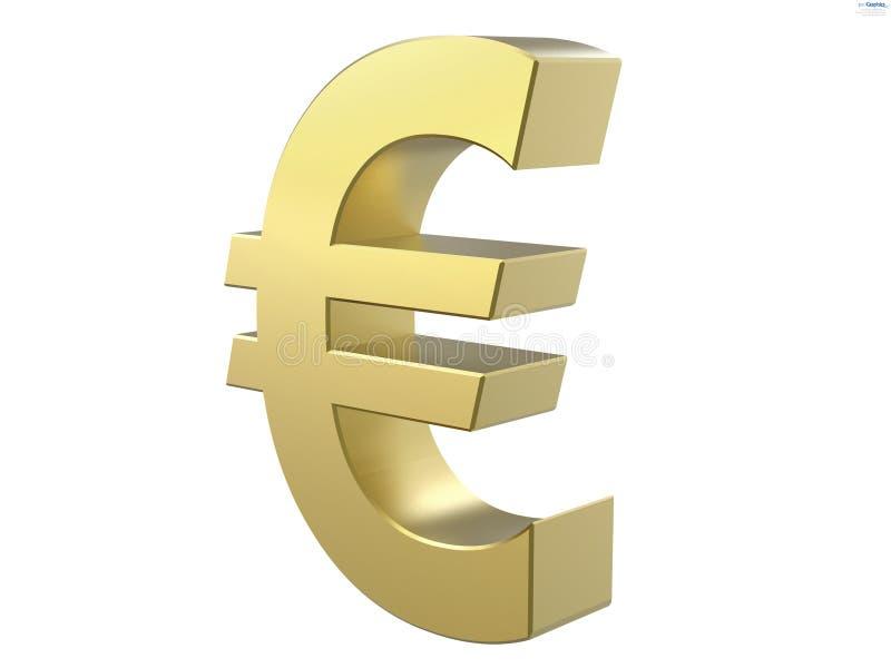 Euro- símbolo ilustração stock