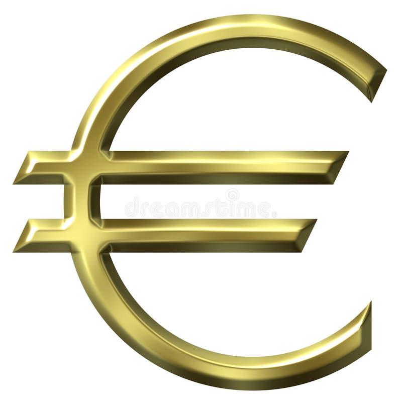Euro- símbolo de moeda ilustração stock