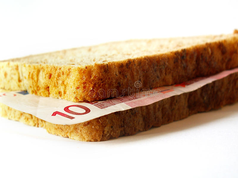 Euro Sandwich Stock Images