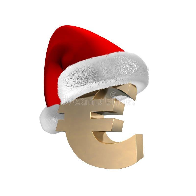 euro santa för lock 3d stock illustrationer