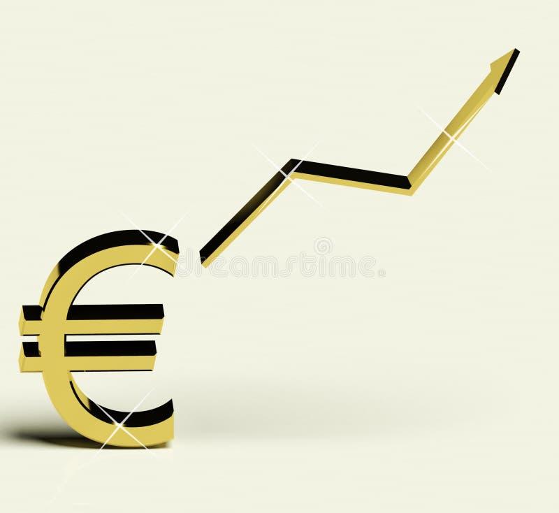 Euro segno e freccia alta come simbolo per i guadagni royalty illustrazione gratis