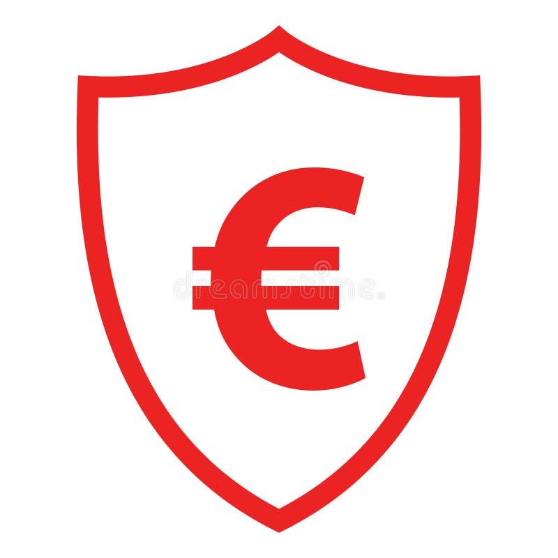 Euro and shield vector illustration