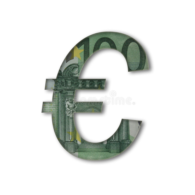 Euro sign 100 note royalty free illustration