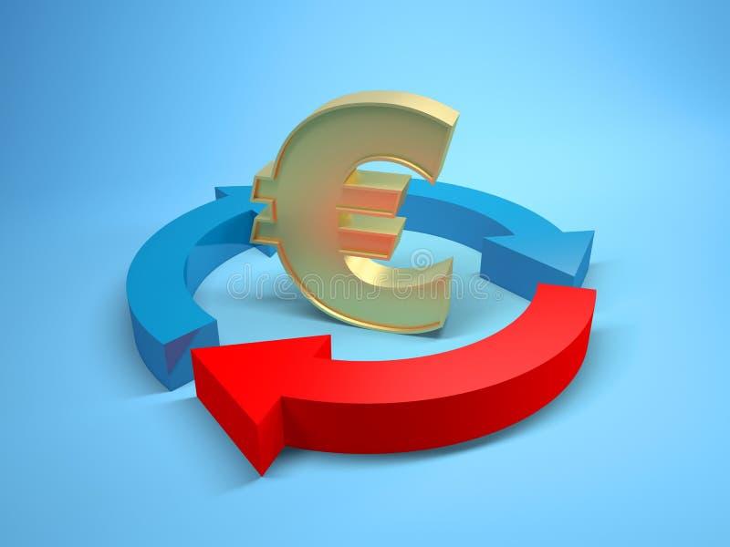 Download Euro sign stock illustration. Illustration of gold, image - 18508738