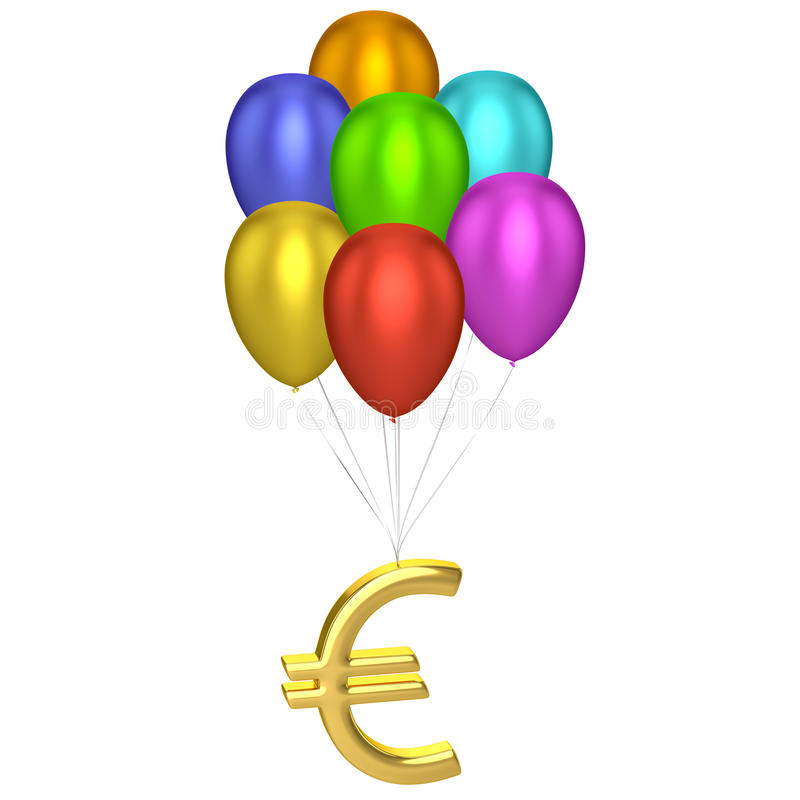 Download Euro Sign With Balloons stock image. Image of grow, cost - 32700431