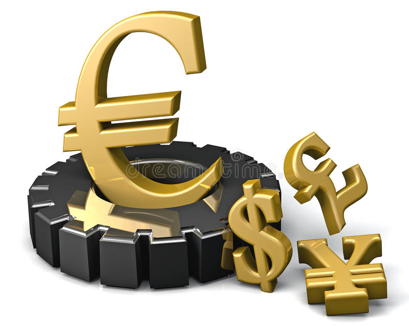 Download Euro sign stock illustration. Illustration of capital - 43133345