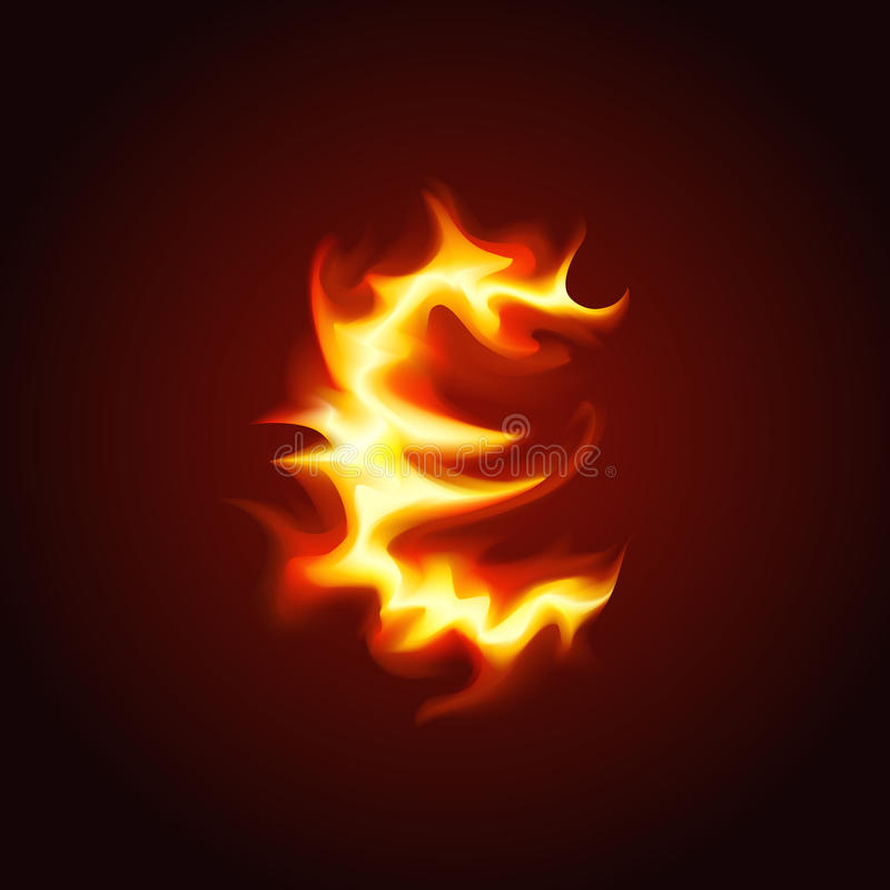 Euro Sign Of Fire Royalty Free Stock Photos
