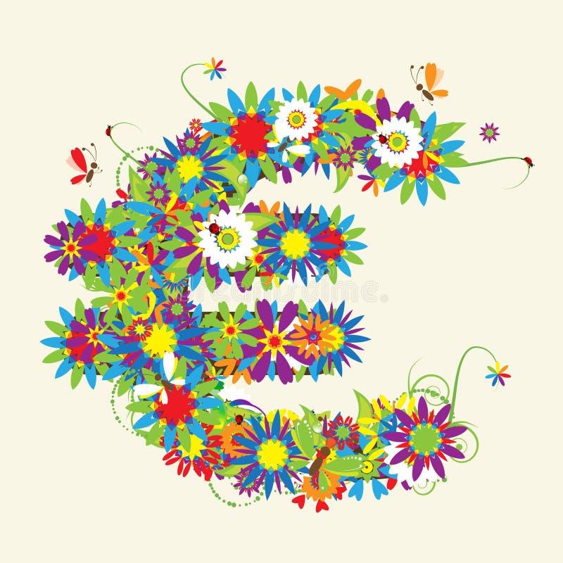 Download Euro Sign. Floral Design. Stock Images - Image: 11260874