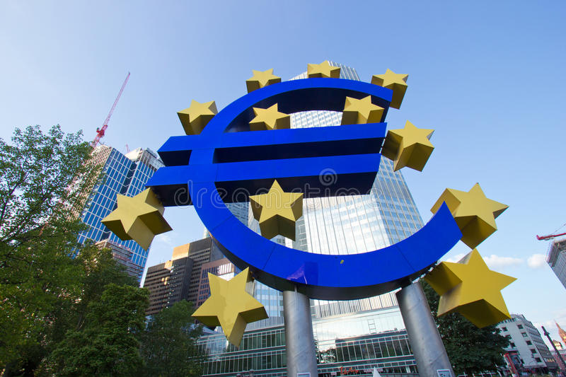 Download Bank with euro sign editorial image. Image of economy - 32831800