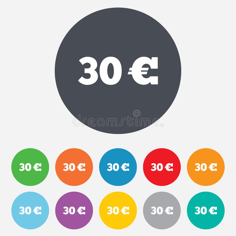 Download 30 Euro Sign Icon. EUR Currency Symbol. Stock Illustration - Image: 36728733