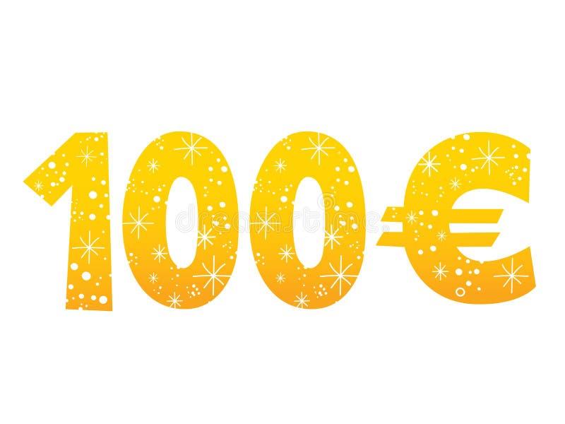 100 Euro Sign Icon Symbol Stock Vector Illustration Of Money