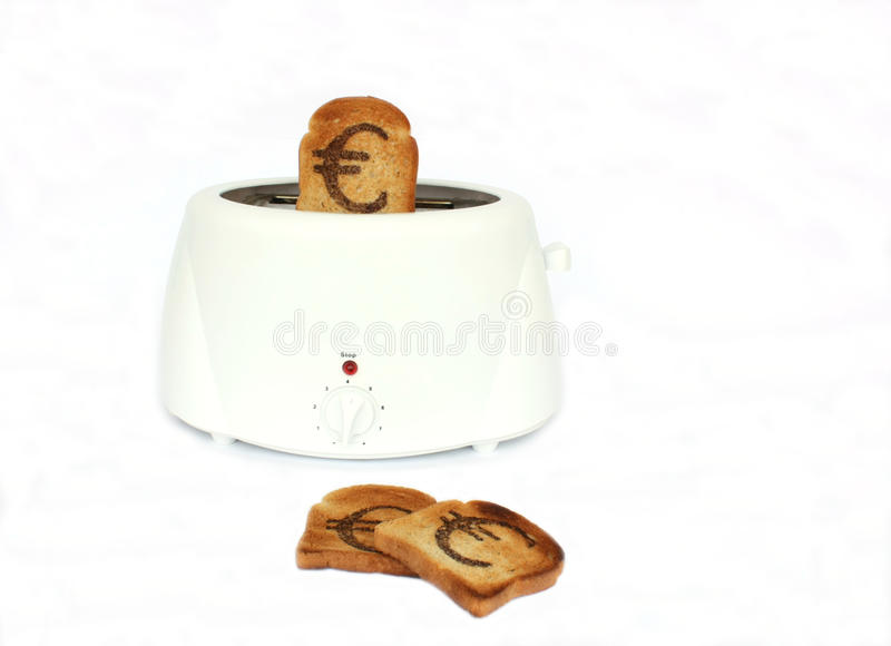 Download Euro Sign On A Slice Of Bread Stock Image - Image: 10817409