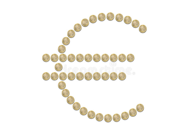 Euro Sign Symbol Coins Isolated Stock Photo Image Of Exchange