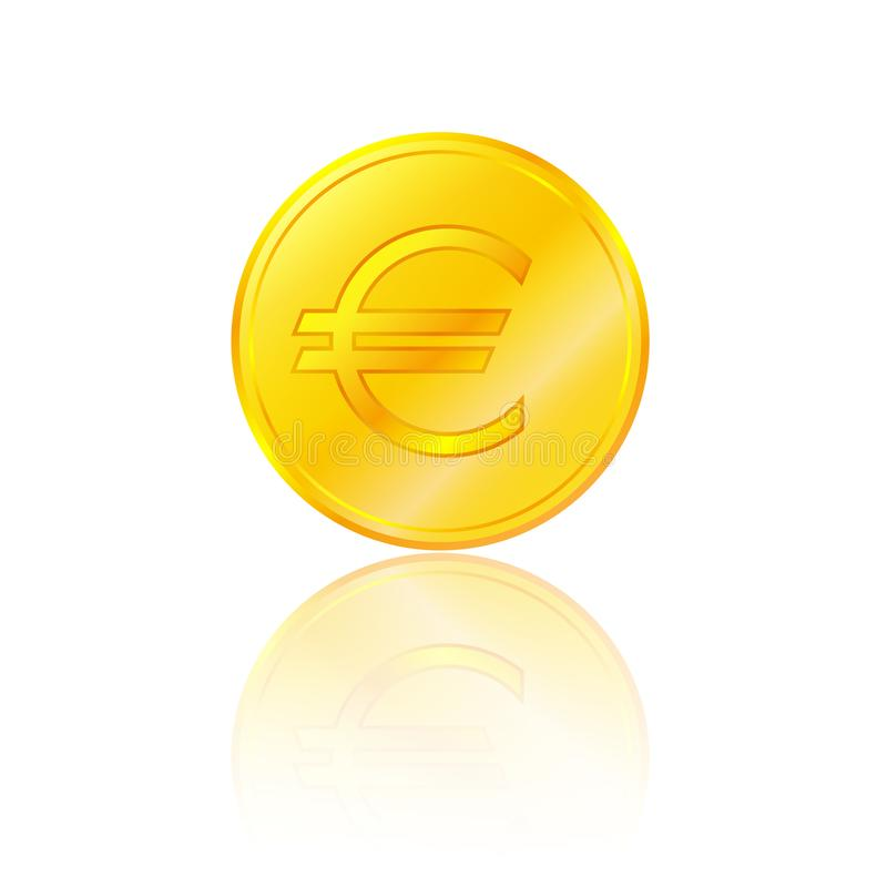 Euro signe d'or illustration stock