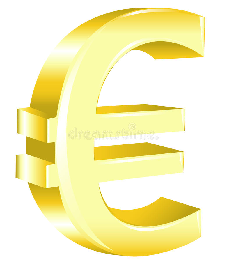Euro signe. Vecteur illustration de vecteur