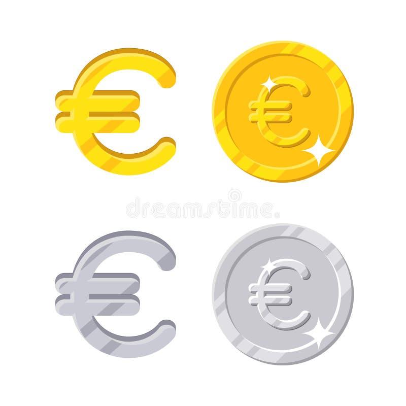 Euro- sinal ilustração royalty free