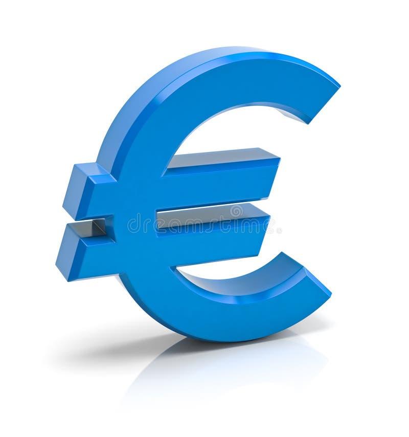 Euro- sinal ilustração stock