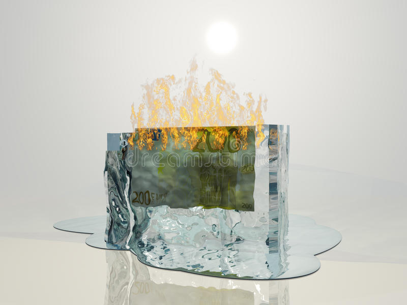Euro Smelting stock illustratie