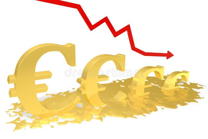 Euro smeltingen stock illustratie