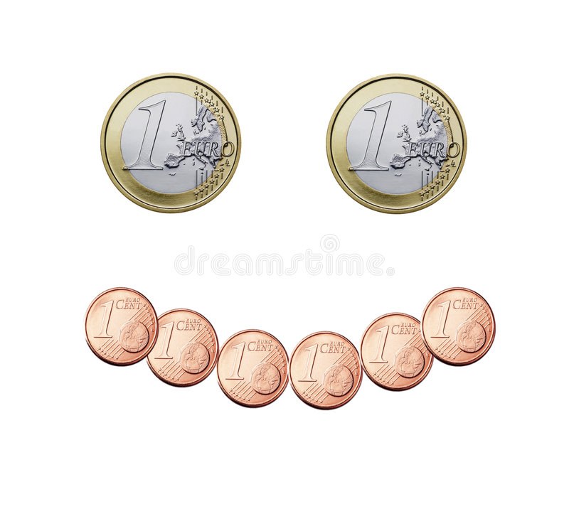 Euro smile royalty free stock photo