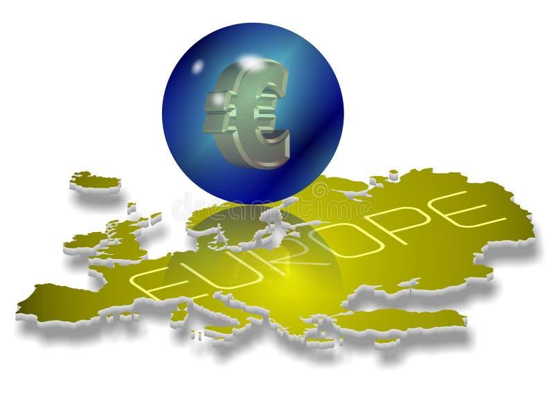 Euro soldi illustrazione vettoriale