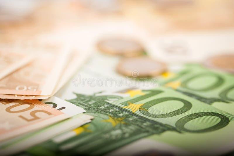 Euro soldi fotografie stock
