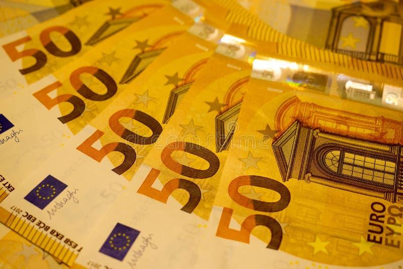 Euro 50 Soldi dell'Unione Europea immagine stock