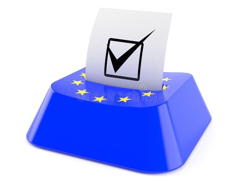 Euro stemconcept vector illustratie