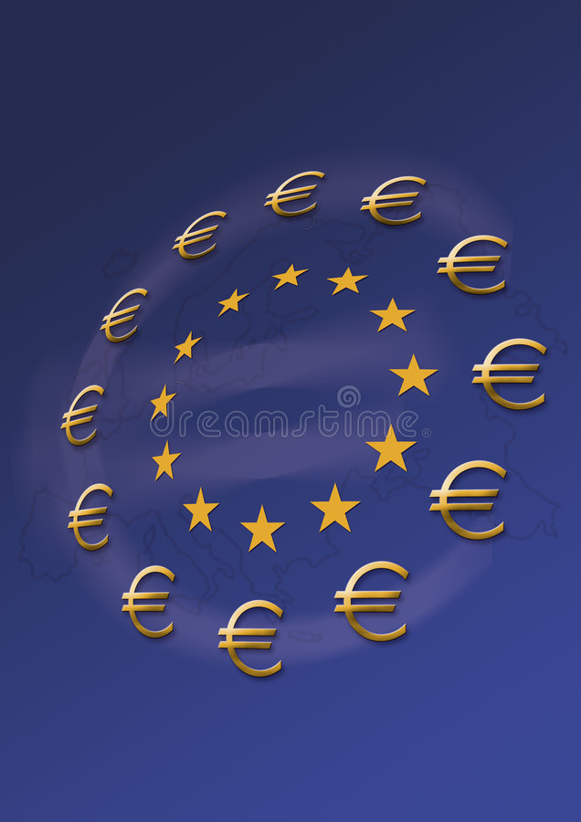 Euro stile fotografie stock