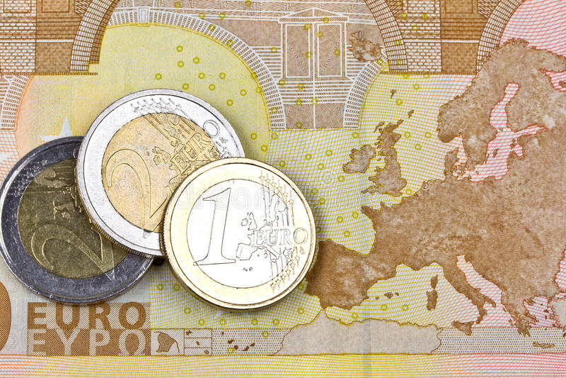 Euro streekgeld royalty-vrije stock fotografie