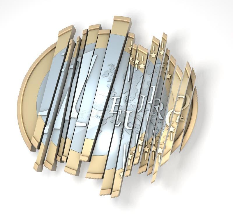 Euro su affettato illustrazione vettoriale