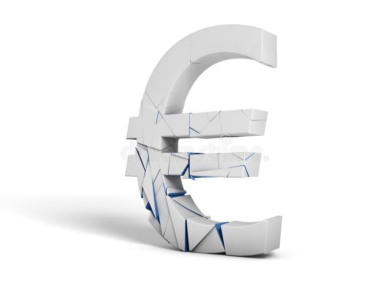 Euro suddivisione di simbolo illustrazione vettoriale