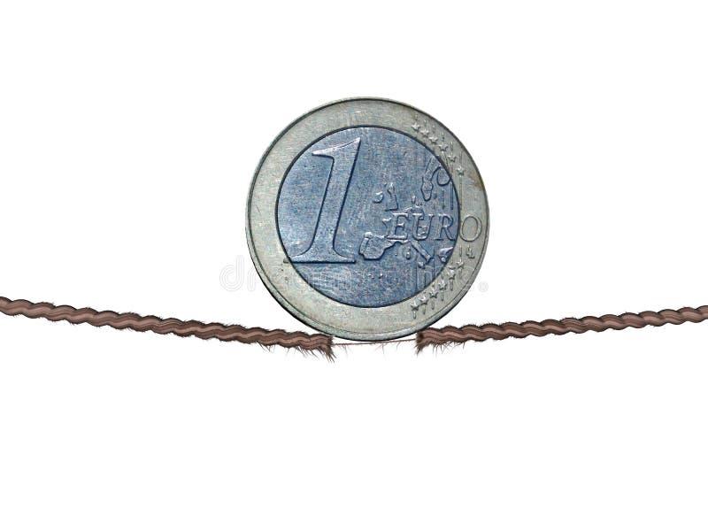Euro sul filetto fotografia stock libera da diritti
