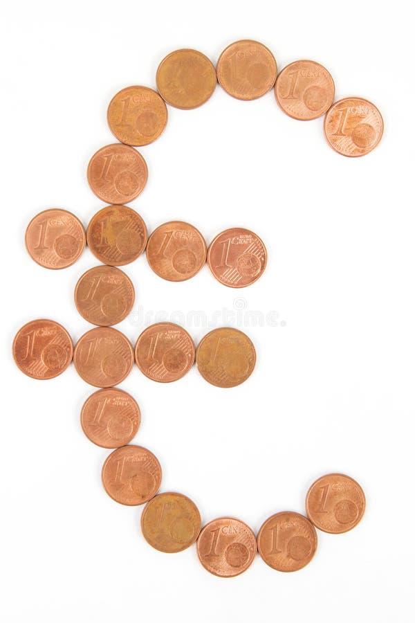 euro symbol obrazy stock