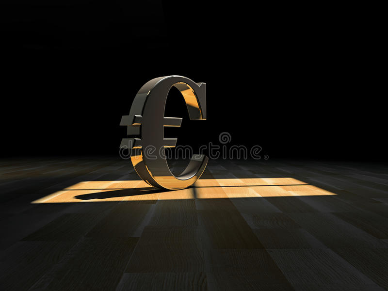 Download Euro symbol stock illustration. Image of euro, golden - 28622056