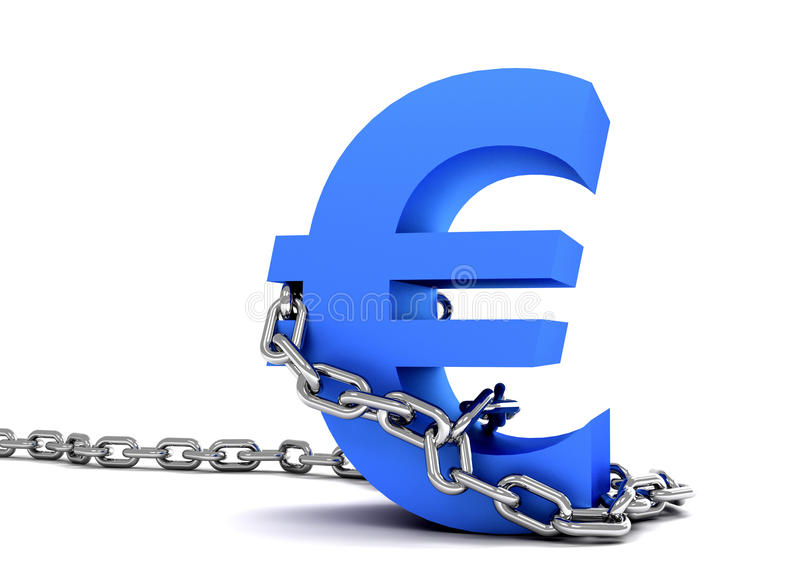 Euro symbol in chains