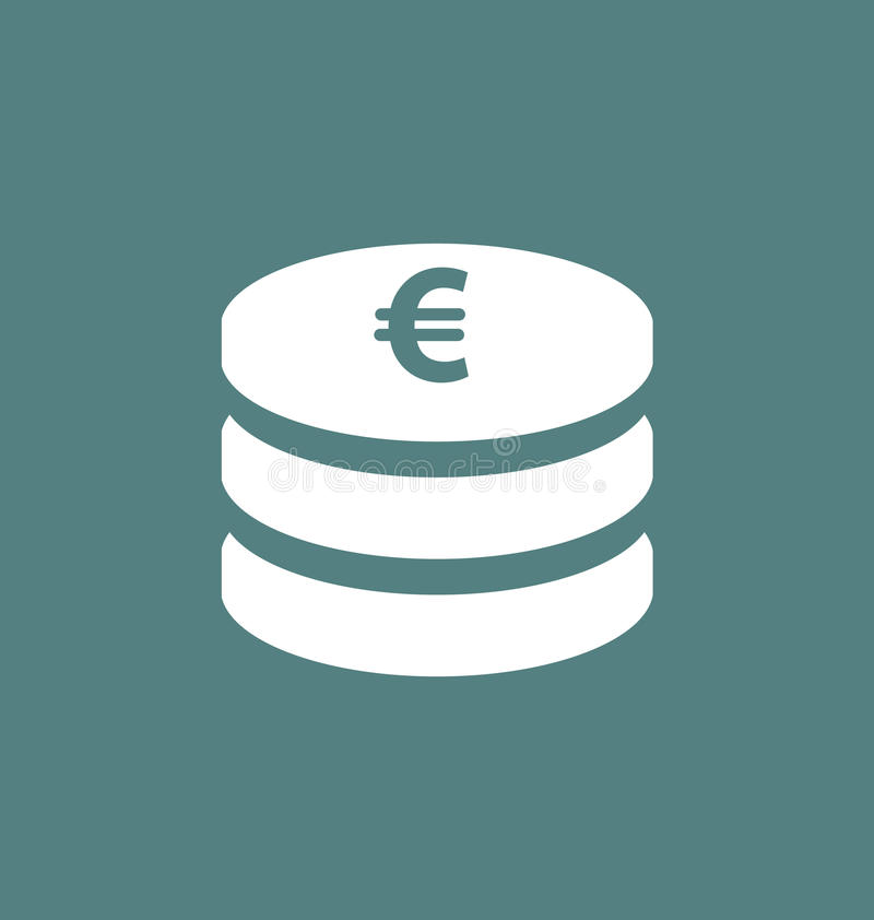 Euro Symbol European Currency Icon Stock Vector Illustration Of